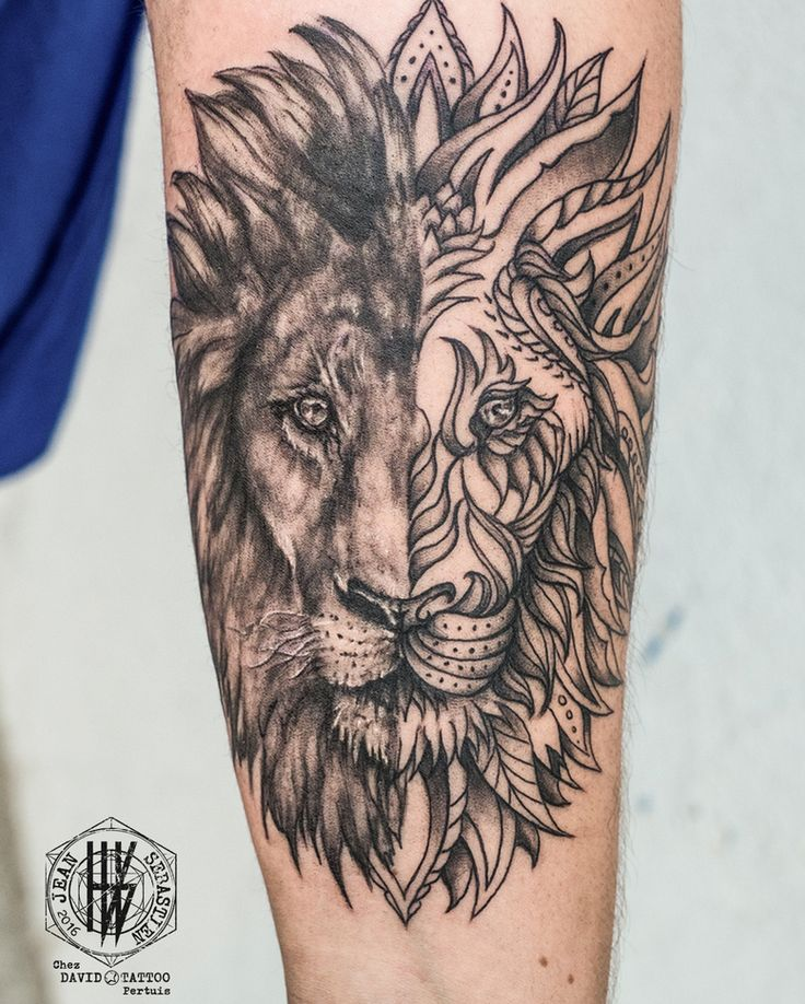Tertific Lion Tattoo