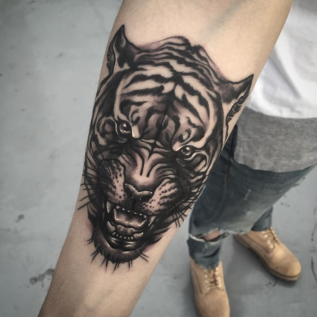 60 amazing tiger face tattoos designs and ideas collection for Tiger tattoo face