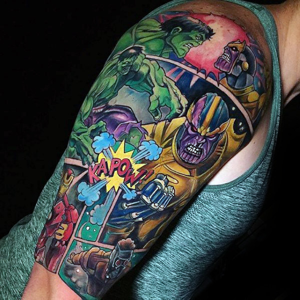 Amazing Comic Tattoo