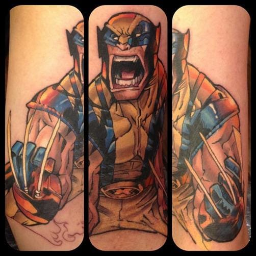 Amazing Comic Tattoos Design