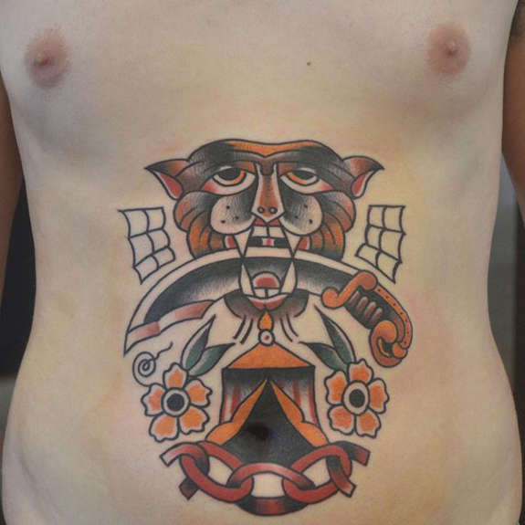 Amazing Stomach Tattoo Designs