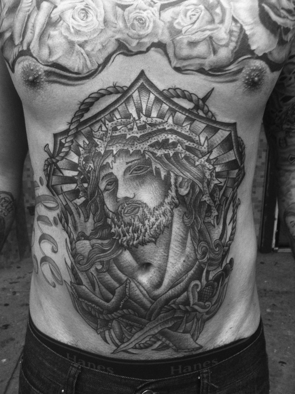 Amazing Stomach Tattoo
