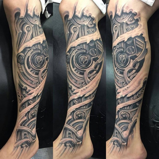 Attractive Biomechanical Tattoos
