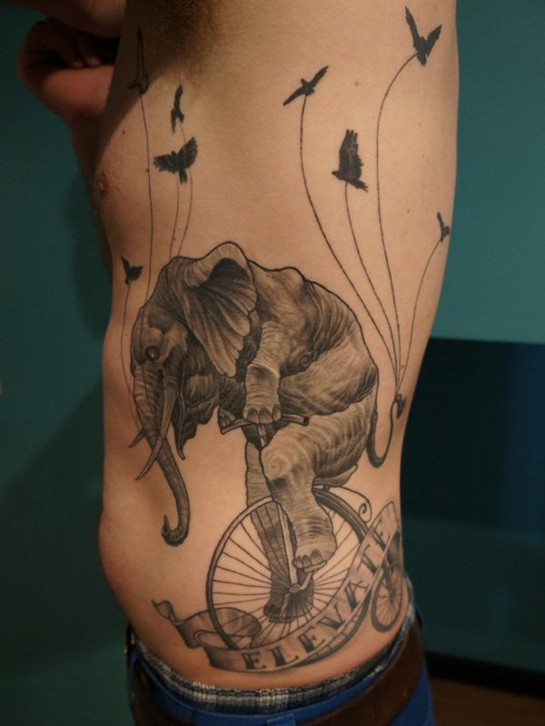 Attractive Side Tattoo