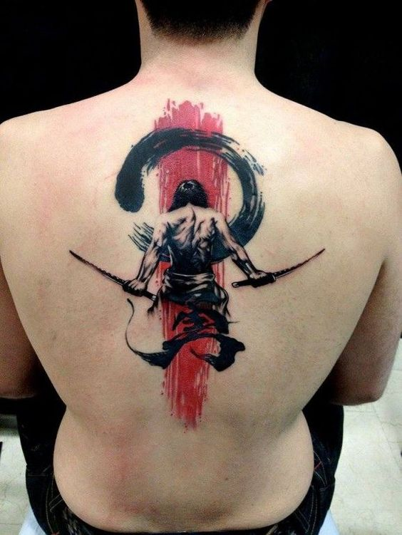 Attractive Upper Back Tattoo