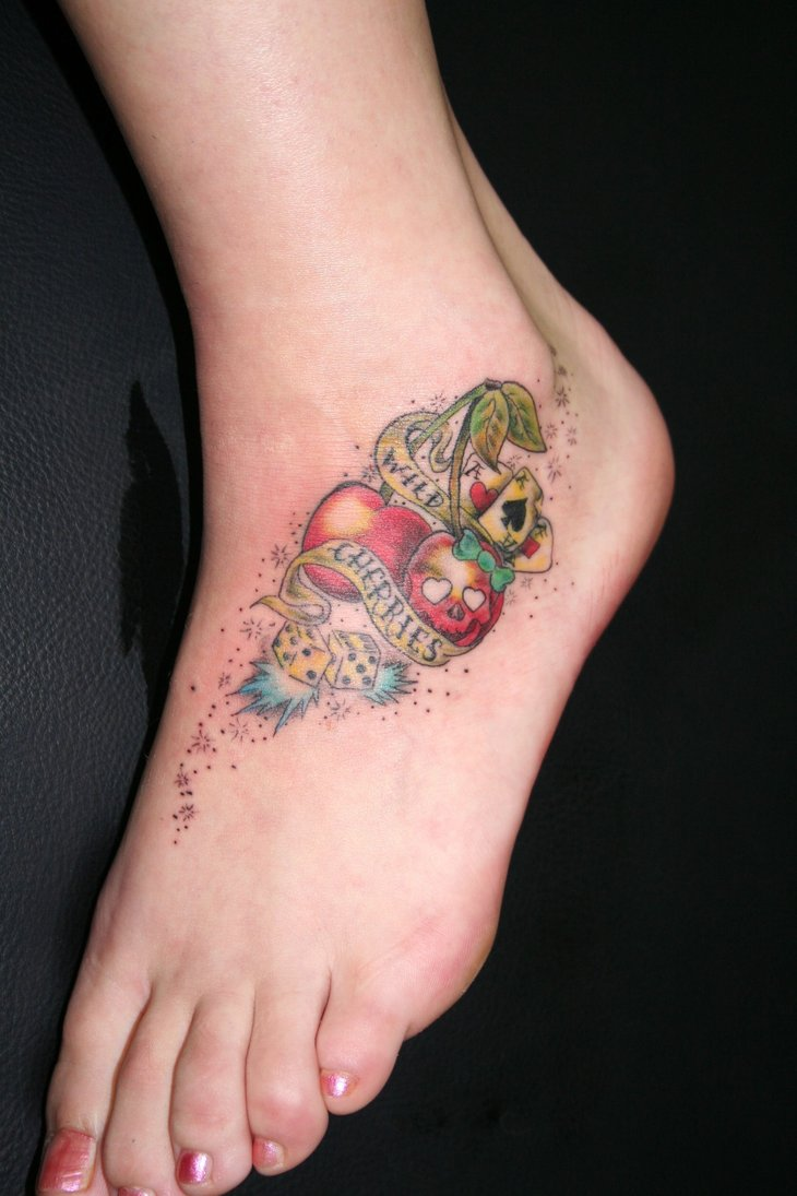 Awesome Cherry Tattoo