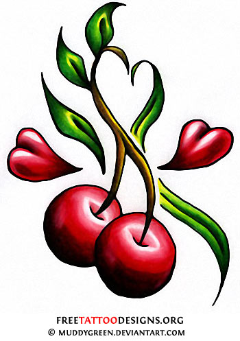 Awesome Cherry Tattoos Designs