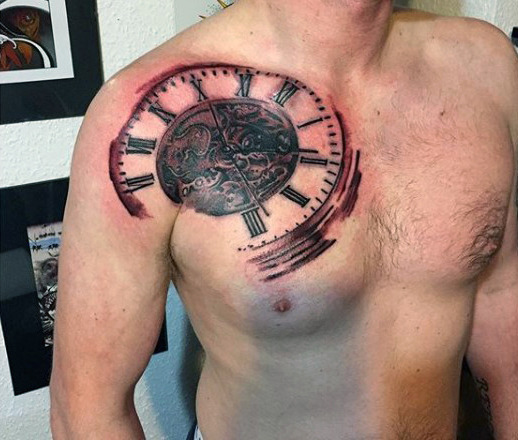 Awesome Clock Tattoos Designs