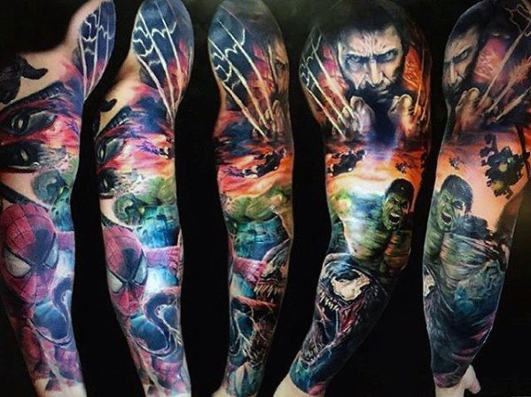 Awesome Comic Tattoo Designs