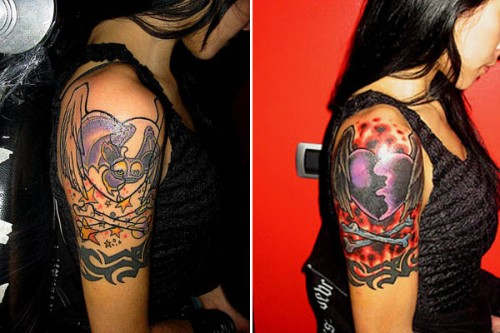 Awesome Cover Up Tattoos Design