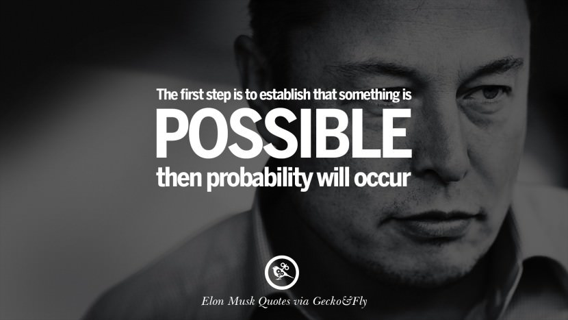 Awesome Elon Musk Quotation