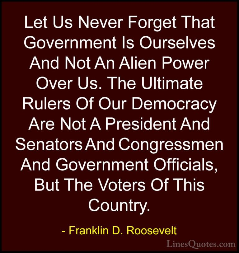 Awesome Franklin D Roosevelt Quotes