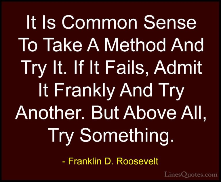 Awesome Franklin D Roosevelt Sayings