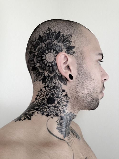 Awesome Head Tattoos Designs