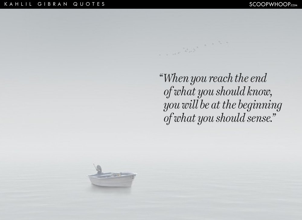 Awesome Khalil Gibran Quotations