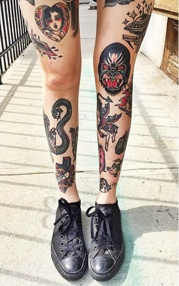 Awesome Leg Tattoos Designs