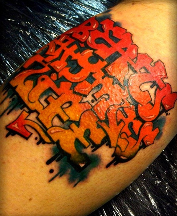 Awesome Red Ink Tattoo