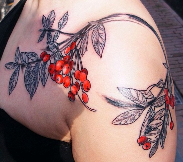 Awesome Red Ink Tattoos Designs