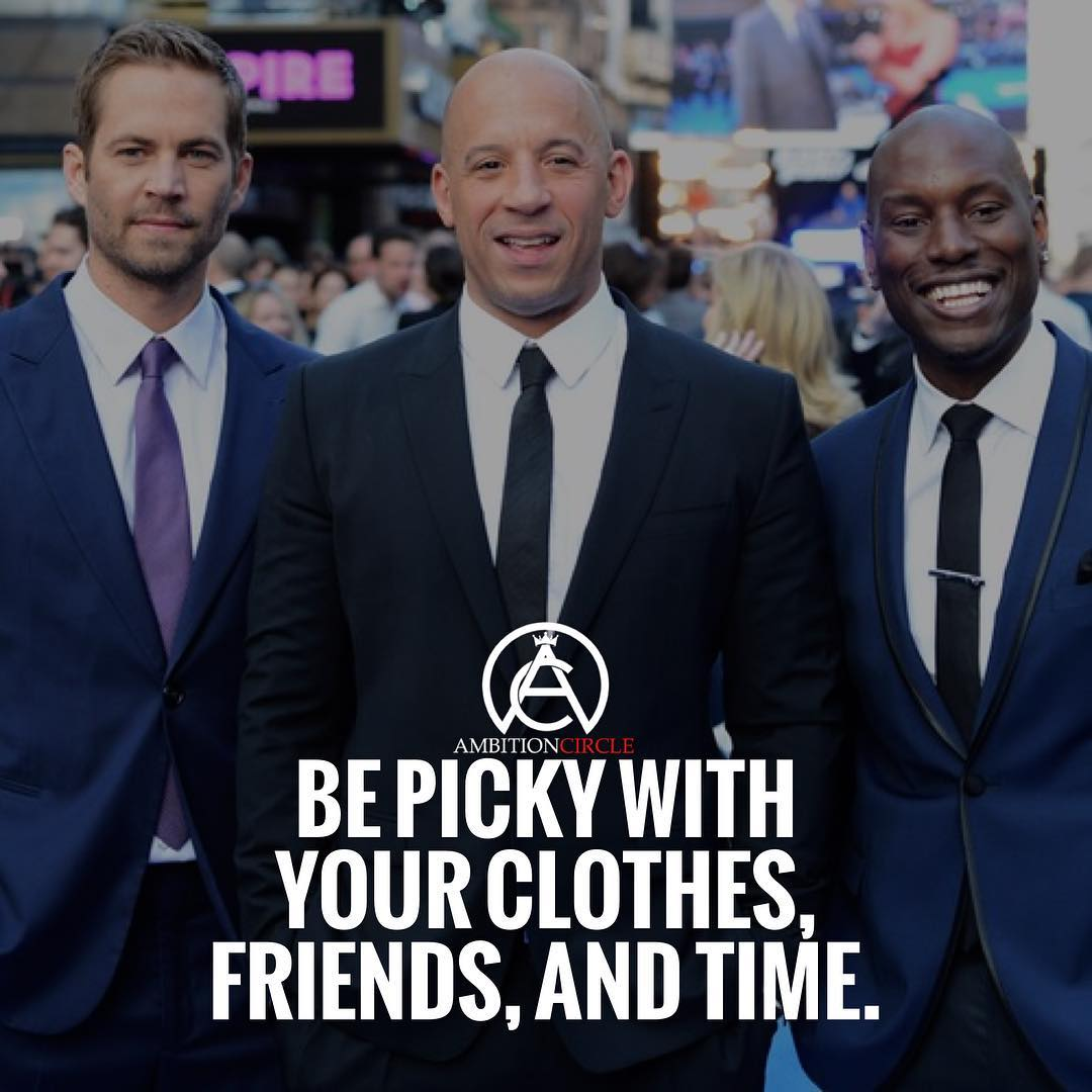 Be Picky With Your Clothes Friends And Time