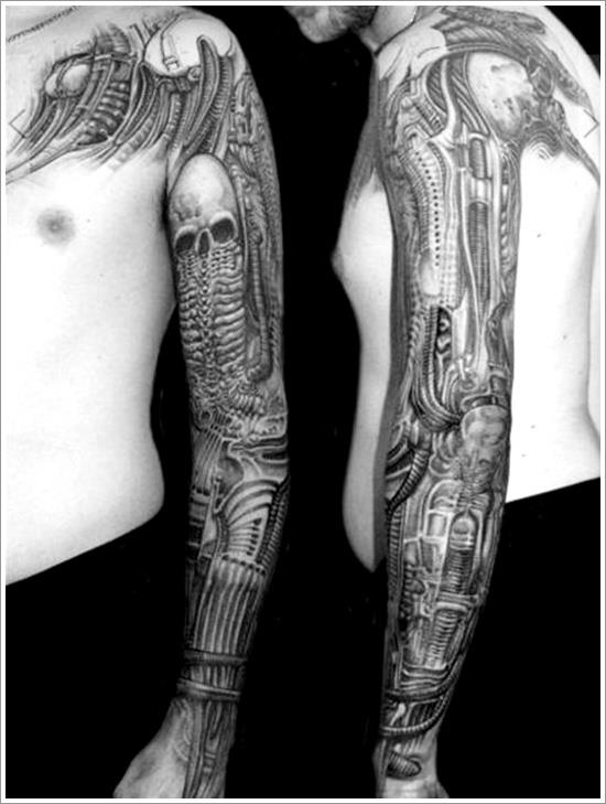 Beautiful Biomechanical Tattoo Designs