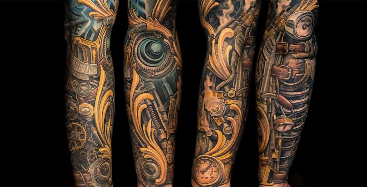 Beautiful Biomechanical Tattoos