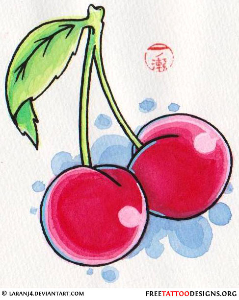Beautiful Cherry Tattoo Designs