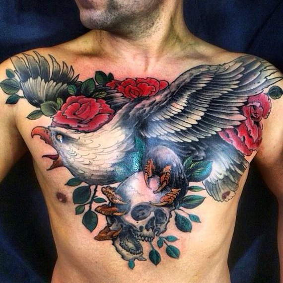 Beautiful Chest Tattoos Designs