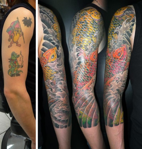 Beautiful Cover Up Tattoo