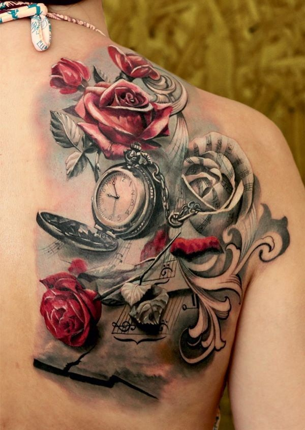 Beautiful Red Ink Tattoos