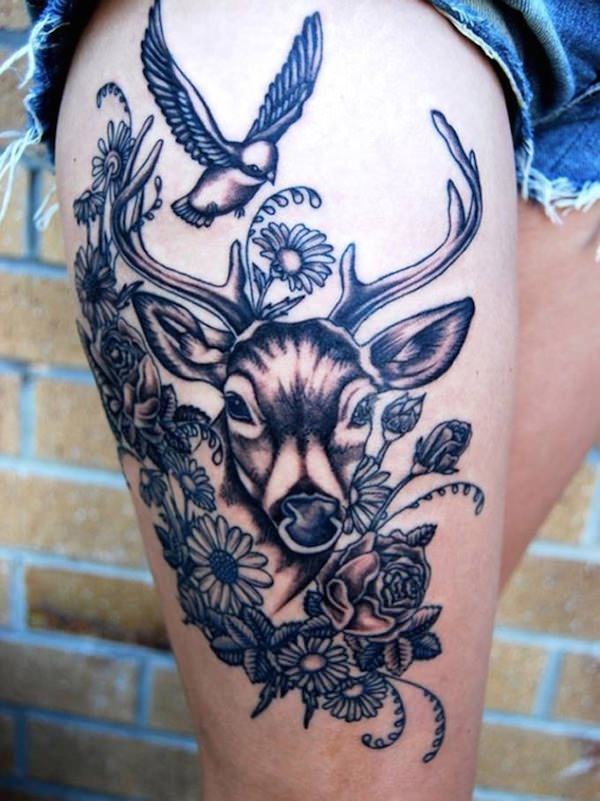 Beautiful Thigh Tattoo