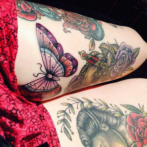 Beautiful Thigh Tattoos