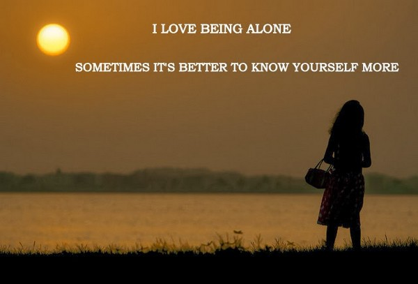 Brilliant Alone Quotation