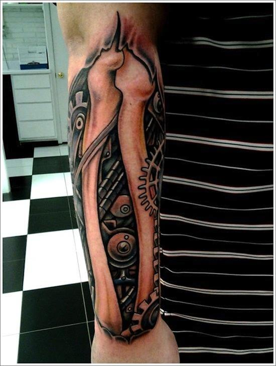 Brilliant Biomechanical Tattoo Designs