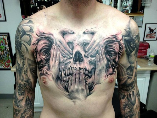Brilliant Chest Tattoo Designs