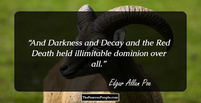 Brilliant Edgar Allan Quotation and Sayings