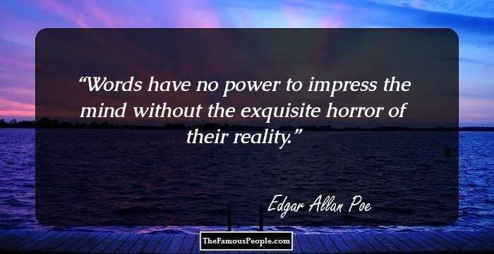 Brilliant Edgar Allan Quotations and Sayings