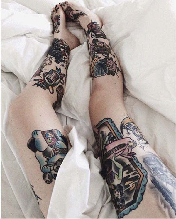 Brilliant Leg Tattoo