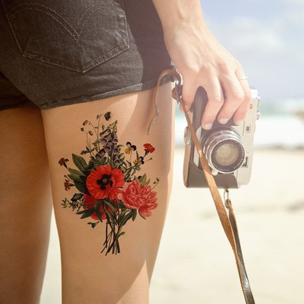 Brilliant Red Ink Tattoo Designs