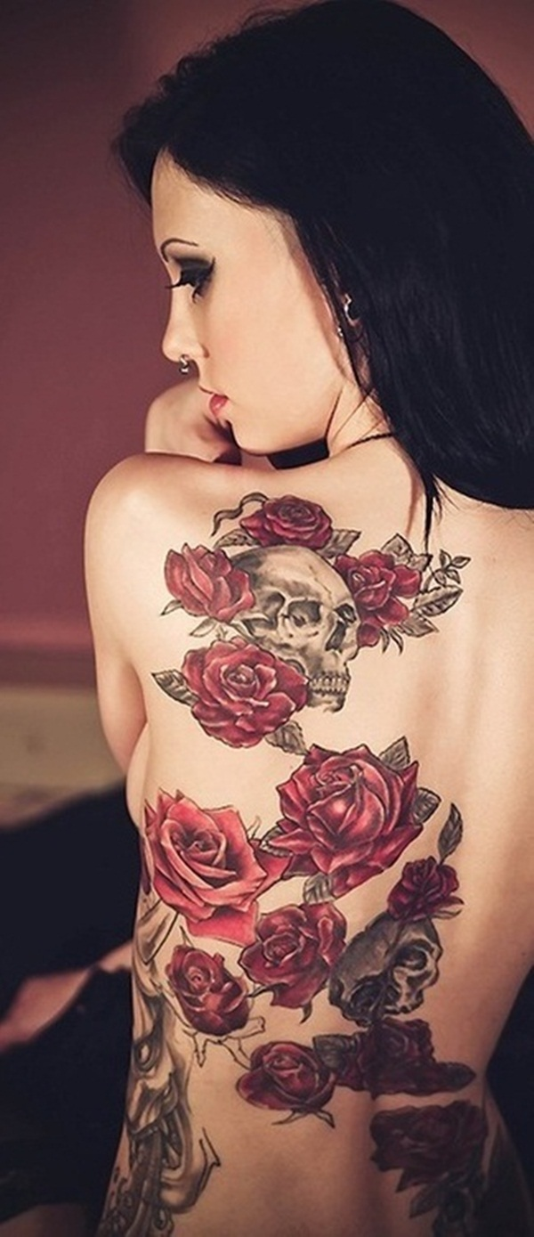 Brilliant Red Ink Tattoo