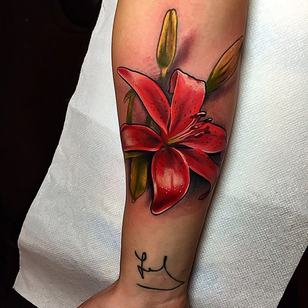 Brilliant Red Ink Tattoos
