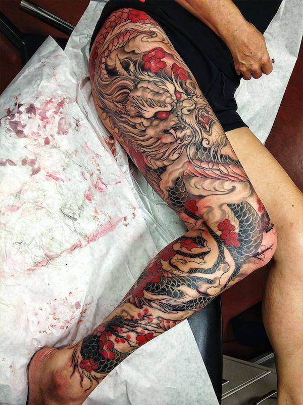 Brilliant Thigh Tattoos