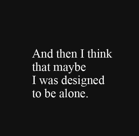 Charming Alone Quotation