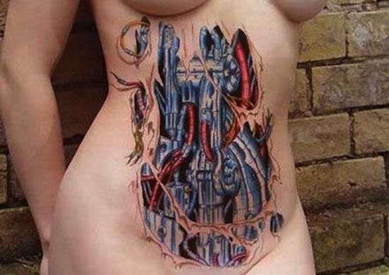 Charming Biomechanical Tattoo Designs