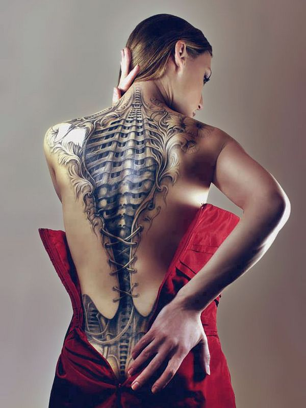 Charming Biomechanical Tattoos Designs