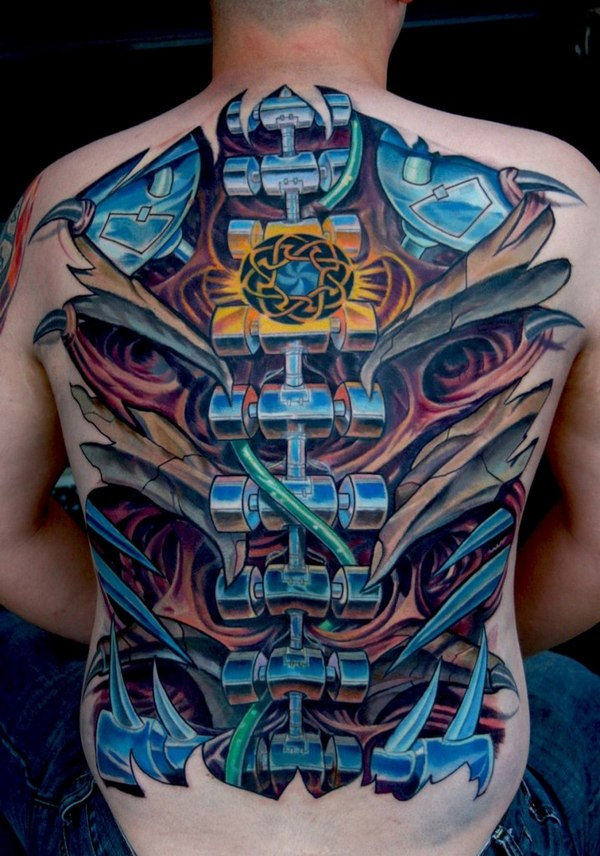 Charming Biomechanical Tattoos