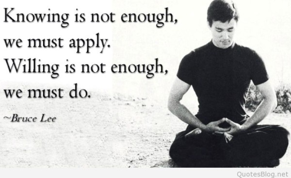 Charming Bruce Lee Quotations