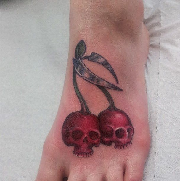 Charming Cherry Tattoo Designs