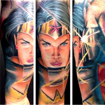 Charming Comic Tattoos Designs