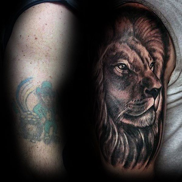 Charming Cover Up Tattoo Design