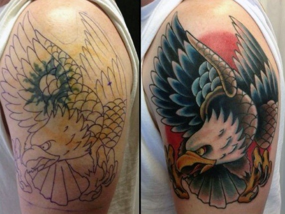 Charming Cover Up Tattoo